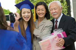 Parents with graduating student